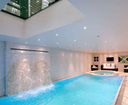 Wes Brown's property for sale - Pool with glass ceing to kitchen