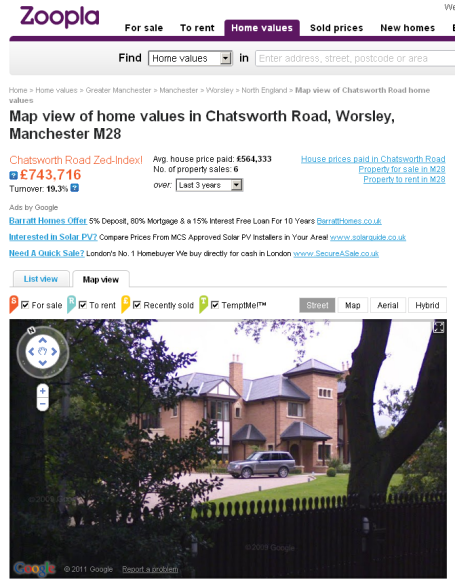 Zoopla home values