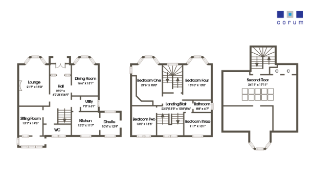 L shaped 3 bedroom house plans uk plans diy how to make for L shaped 4 bedroom house plans